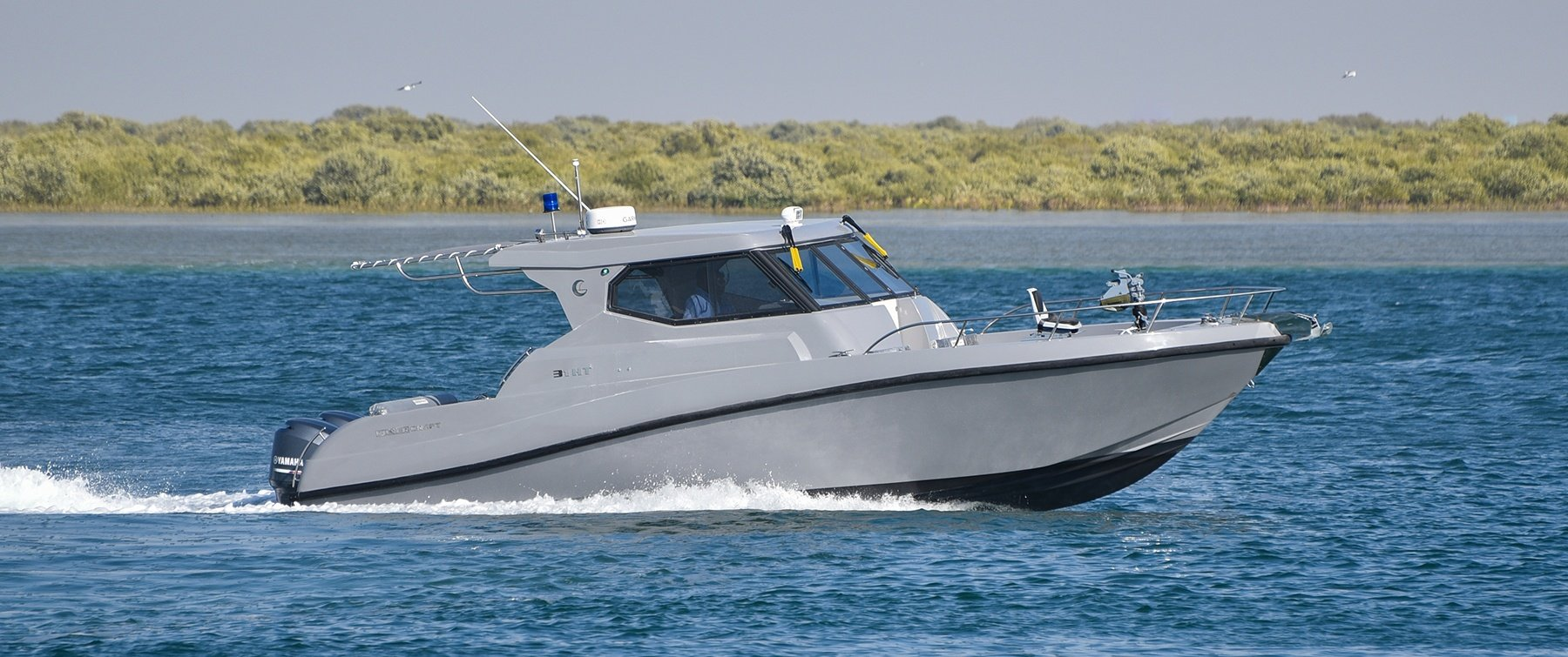 Exterior of the Coast Guard 31 HT by Gulf Craft, UAE