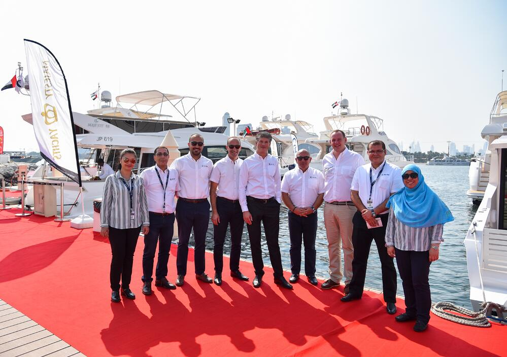 Gulf Craft team at the Dubai Pre-owned Boat Show 2017.jpg