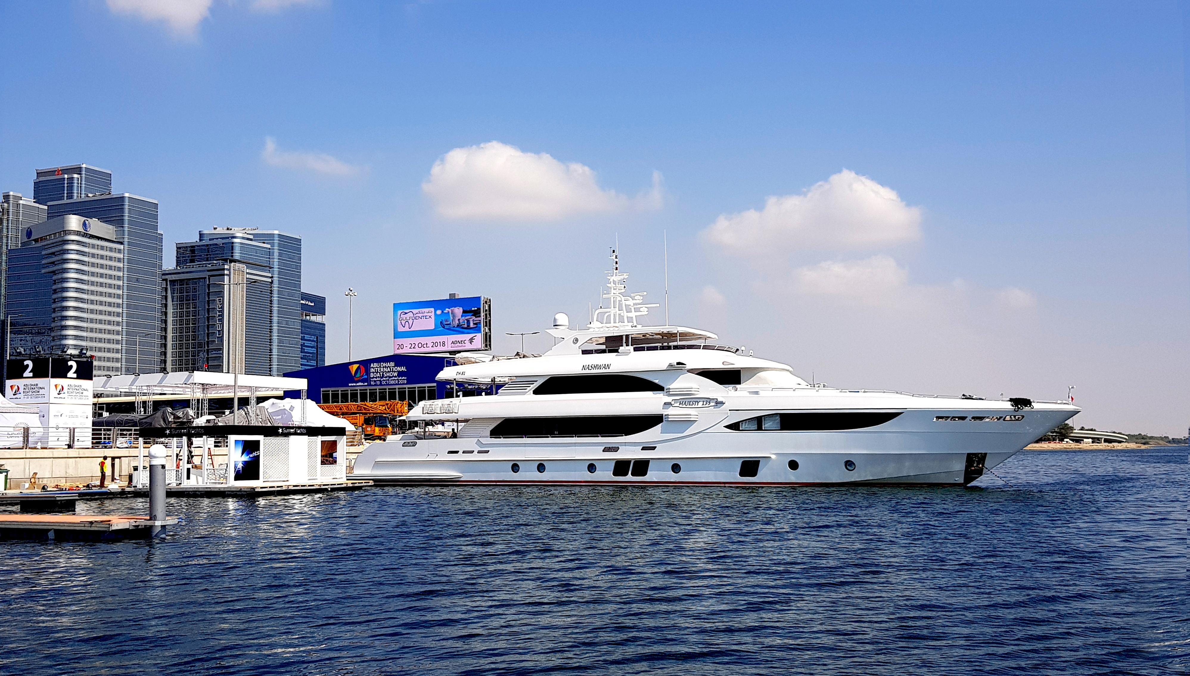 Majesty 135 Present at the Abu Dhabi International Boat Show 2018
