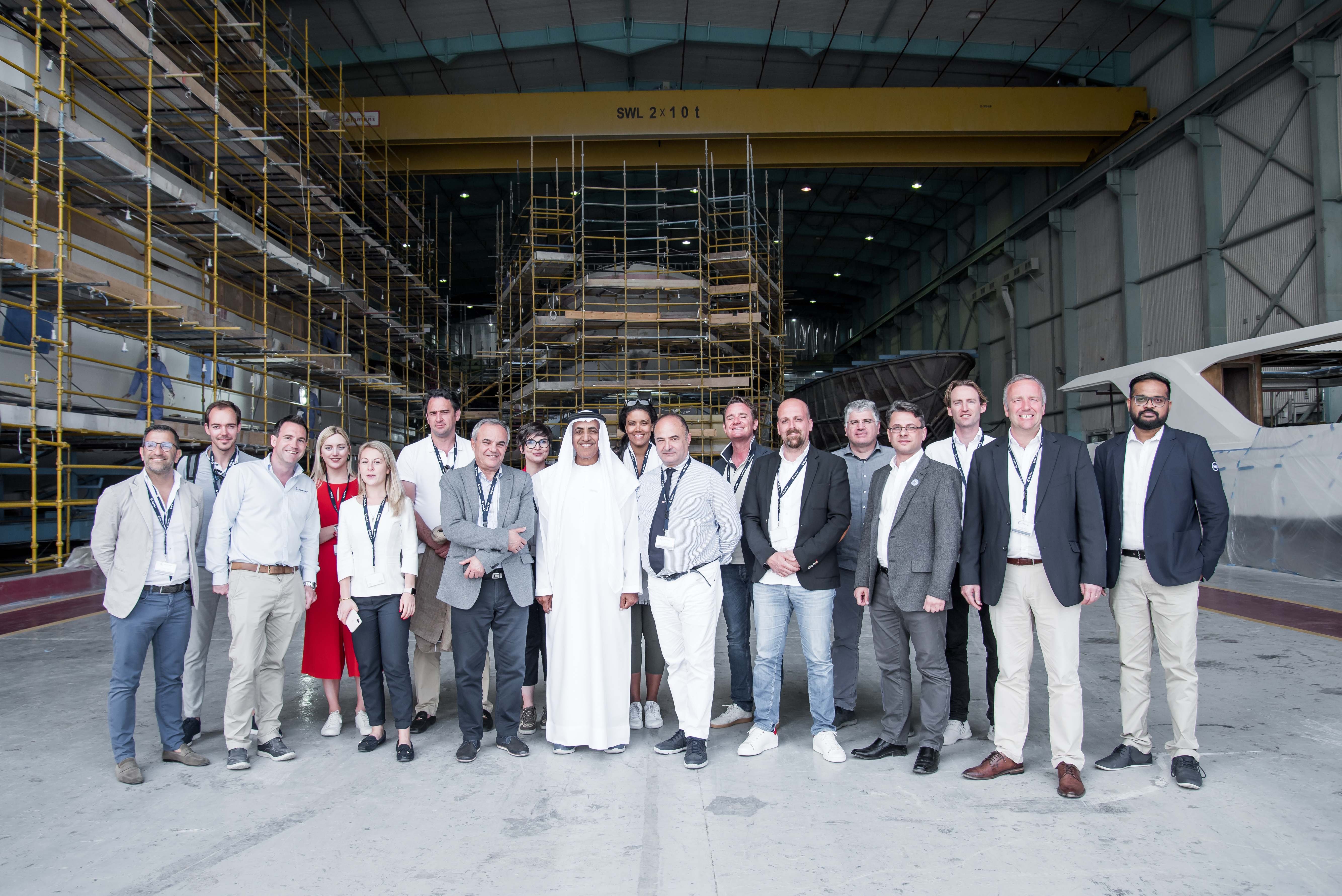 Group image during the press visit
