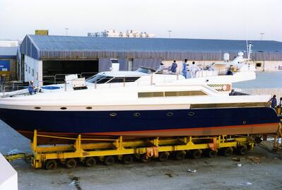 First Majesty 86 being moved from production to the launching bay