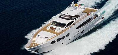 Majesty 105 Superyacht certified pre owned by gulf craft