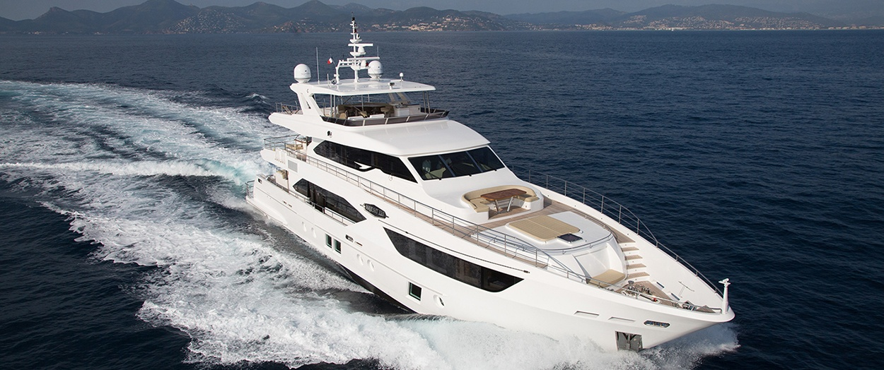 Example exterior of the Majesty 110 by Gulf Craft, UAE