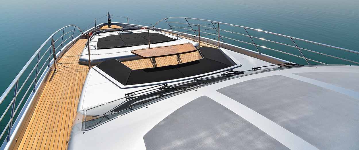 on top of the Majesty 122 by Gulf Craft