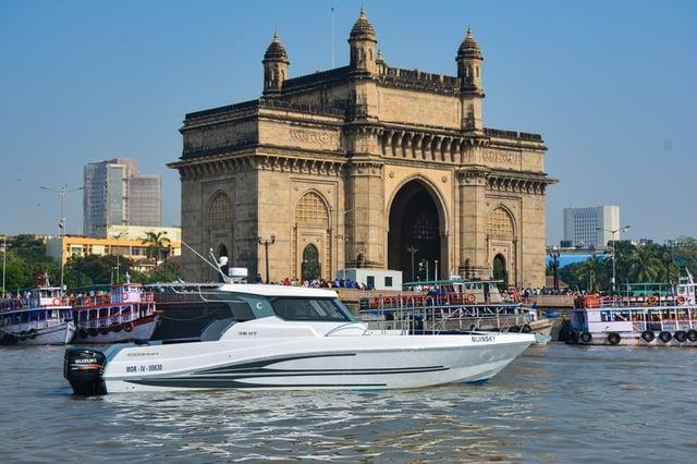 Silvercraft 36 HT in Gate of India, Mumbai India.jpg