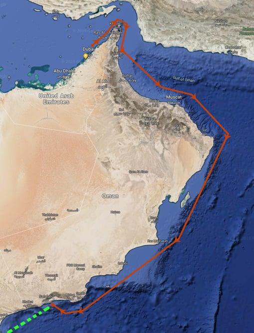 Nomad 75 SUV Dubai Moon route to Salalah, Oman