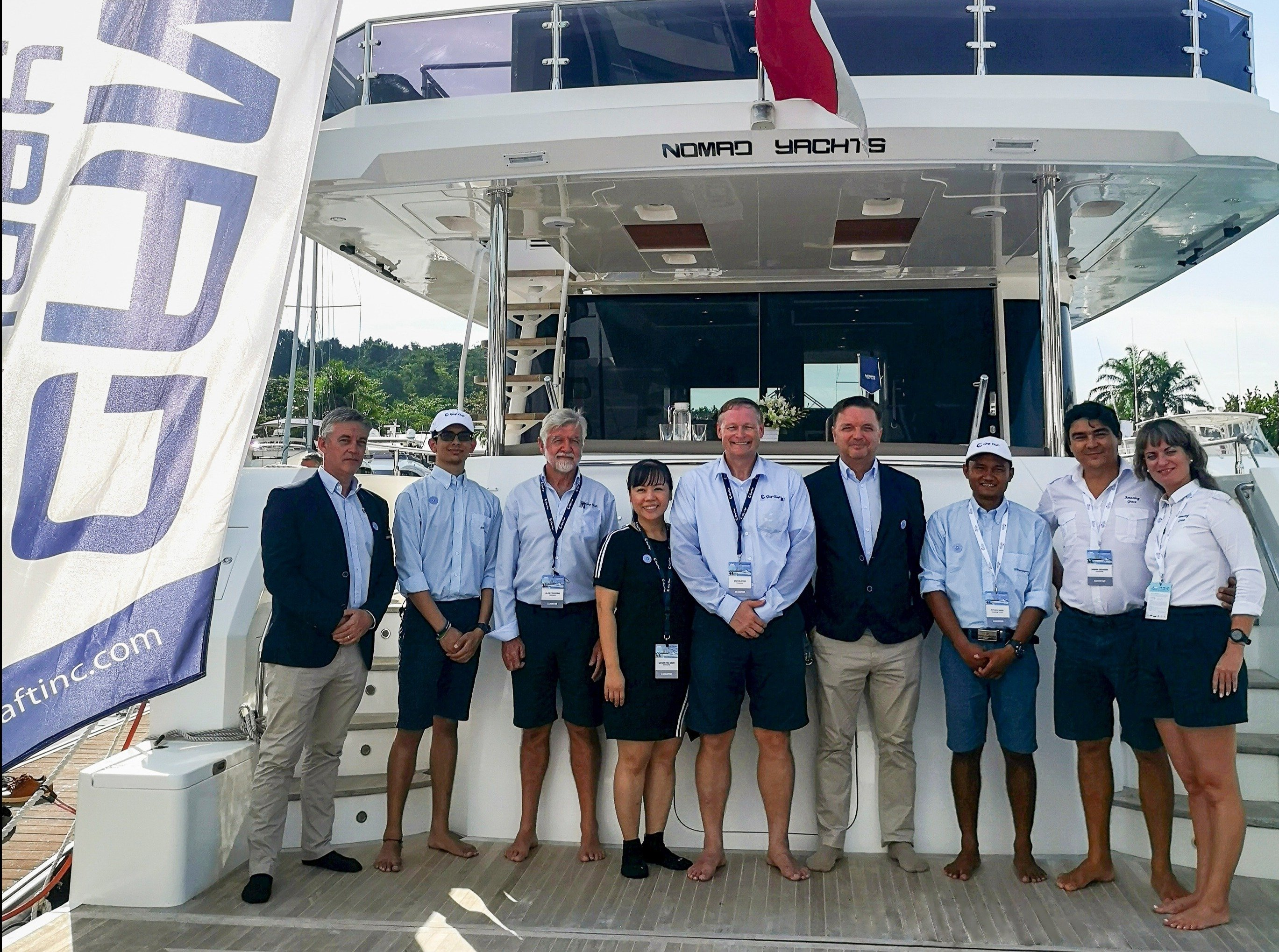 Gulf Craft at Singapore Yacht Show 2019 Day group shot-1