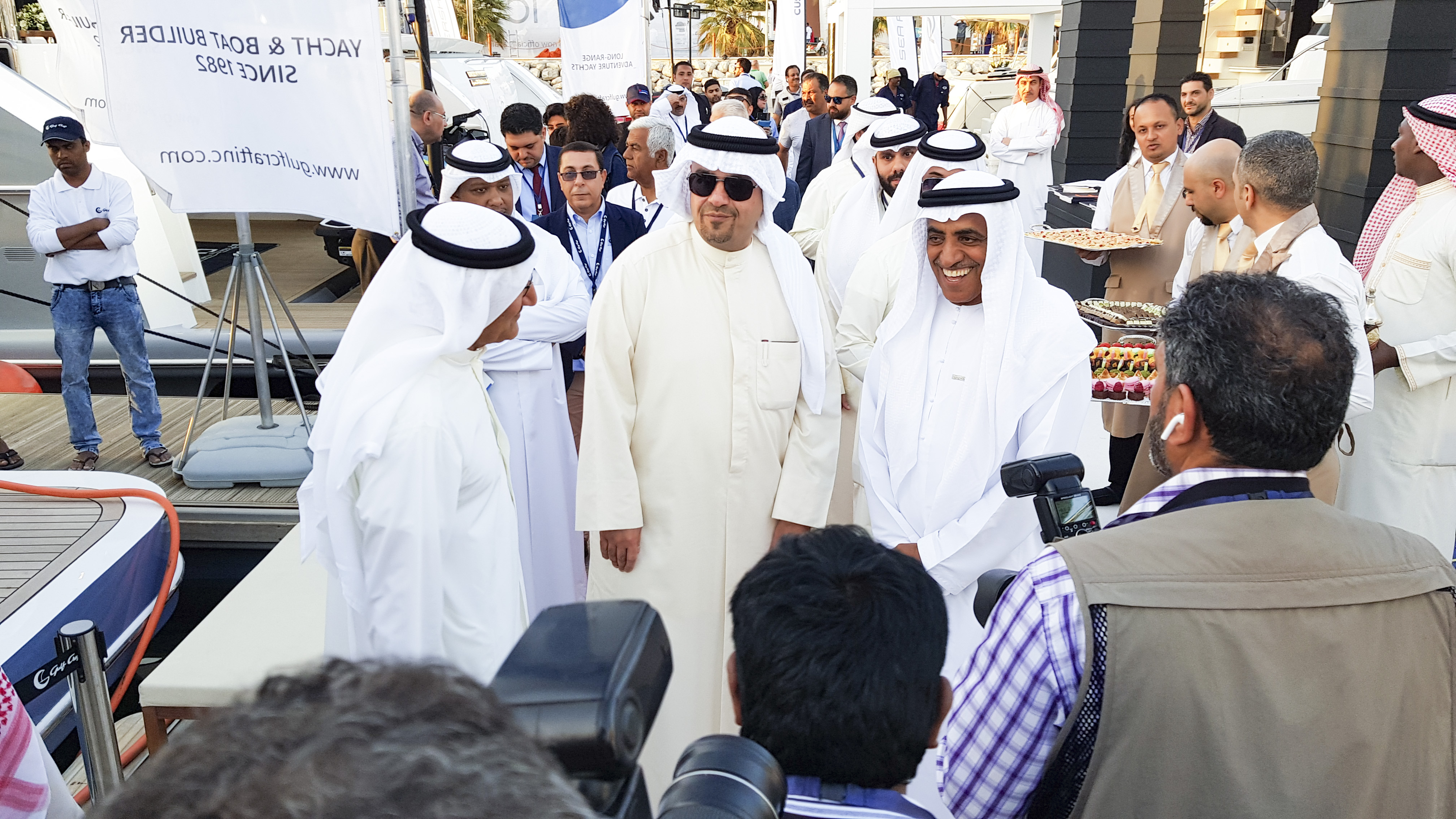 HE Anas Khalid Al Saleh, Deputy Kuwait Prime Minister visits at the Kuwait Yacht Show
