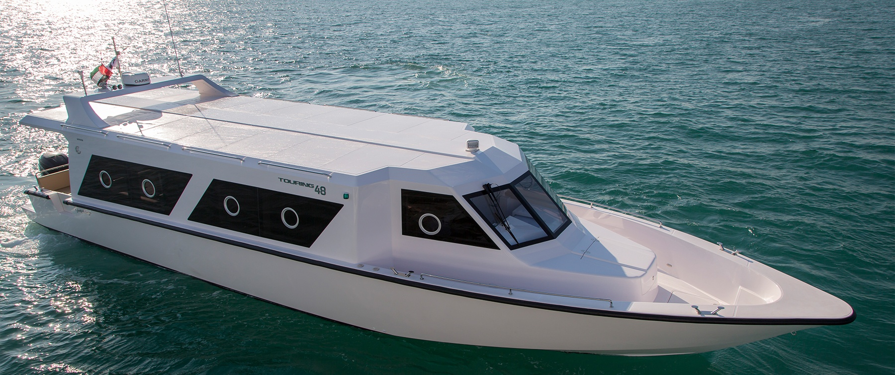 Exterior of the Touring 48 by Gulf Craft, UAE