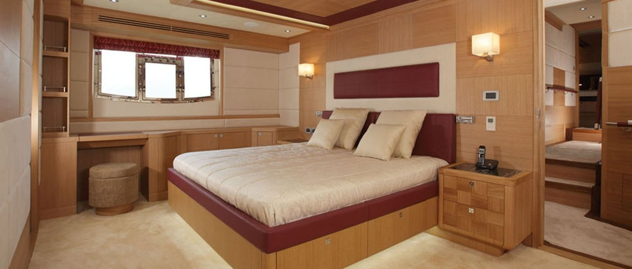 Gulf Craft's Nomad 95 owner's stateroom