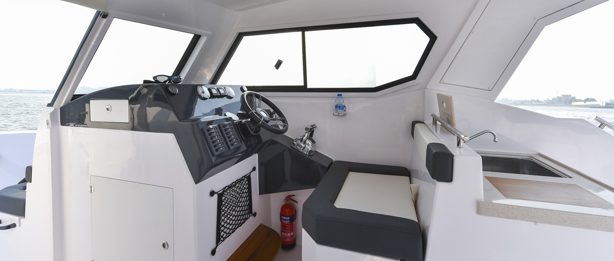 Interior of the Silvercraft 31 HT by Gulf Craft, United Arab Emirates