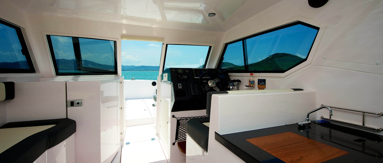 Interior of the Silvercraft 36 HT by Gulf Craft