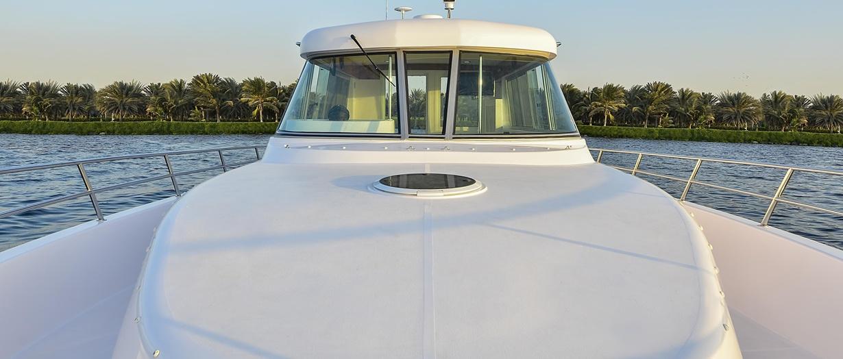 Sunbed area aboard the Silvercraft 40 by Gulf Craft, UAE