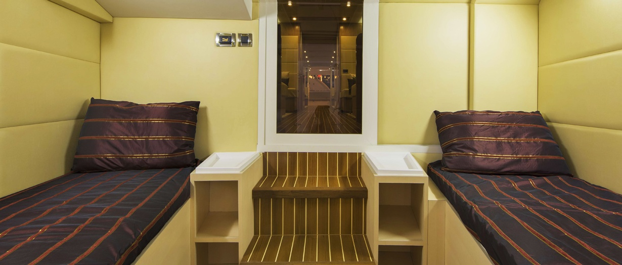 The crew cabin on the Waveshuttle 56 by Gulf Craft, UAE