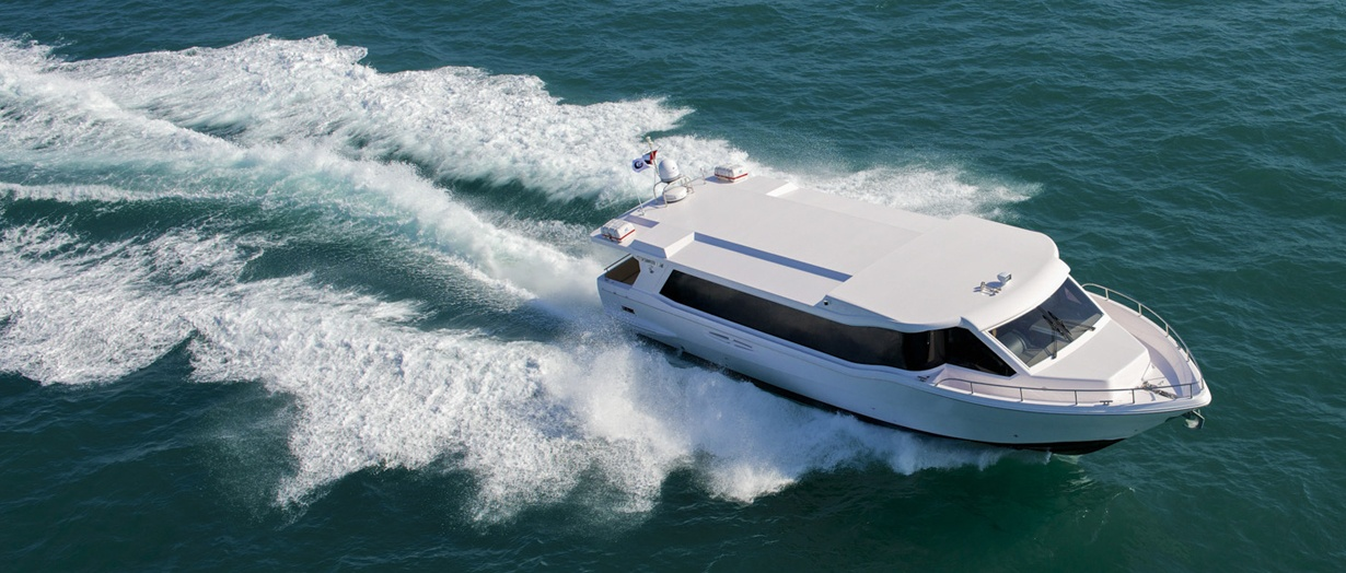 Exterior of the Waveshuttle 56 by Gulf Craft, UAE