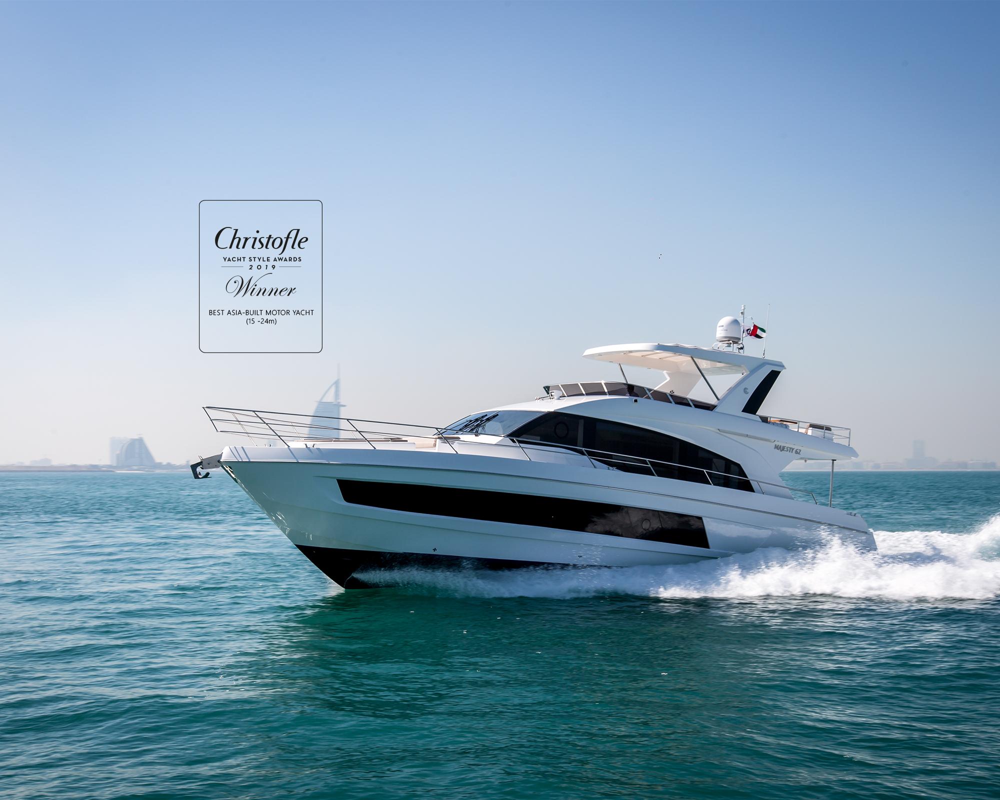 Majesty 62 receives Best Asia-Built Motor Yacht Award