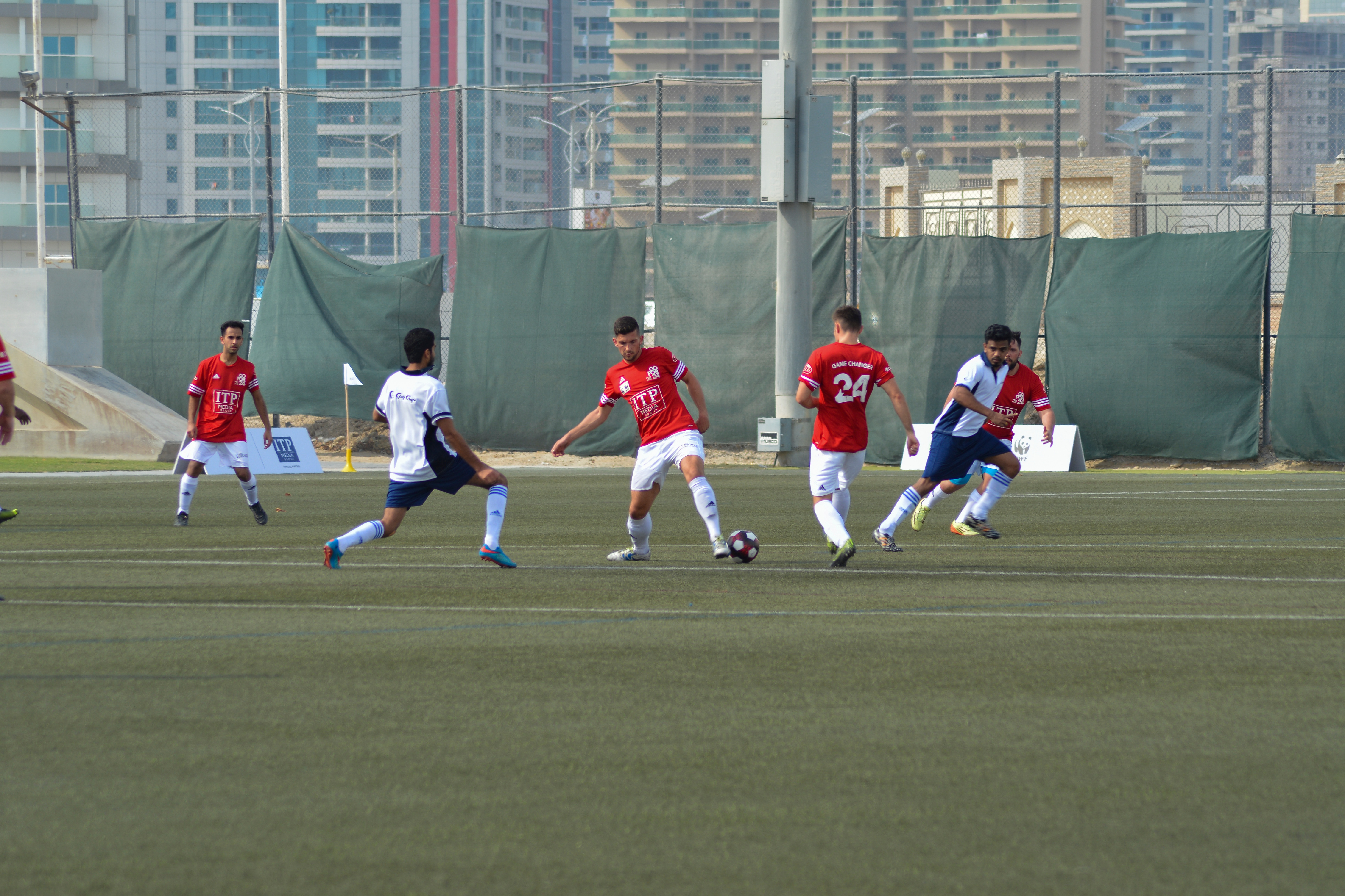 Gulf Craft team vs Heroes at the Oceans 24 Hour Football Challenge