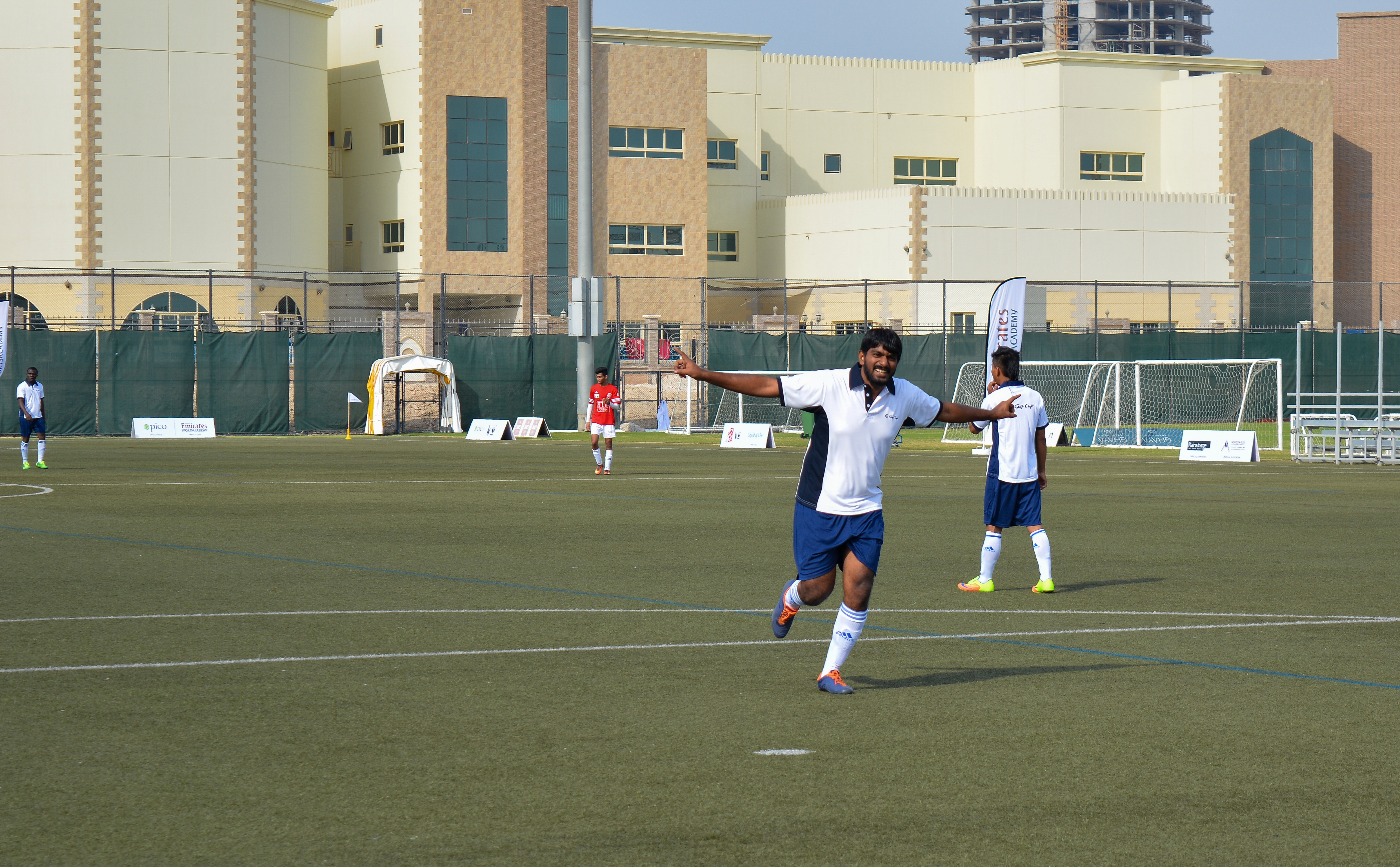 Dance of success after scoring against the Heroes team