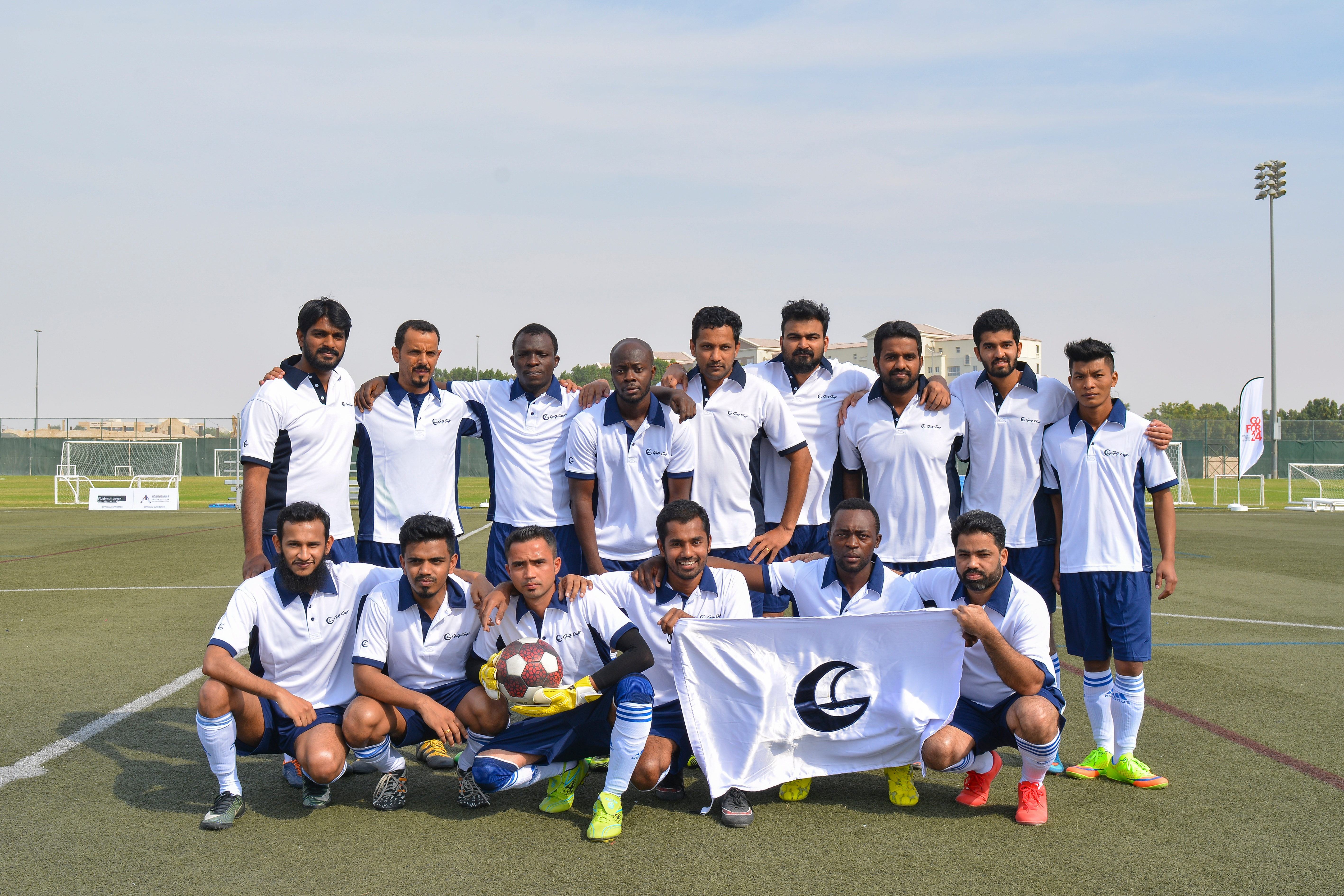 Gulf Craft football team at the Oceans 24 Hour Football Challenge