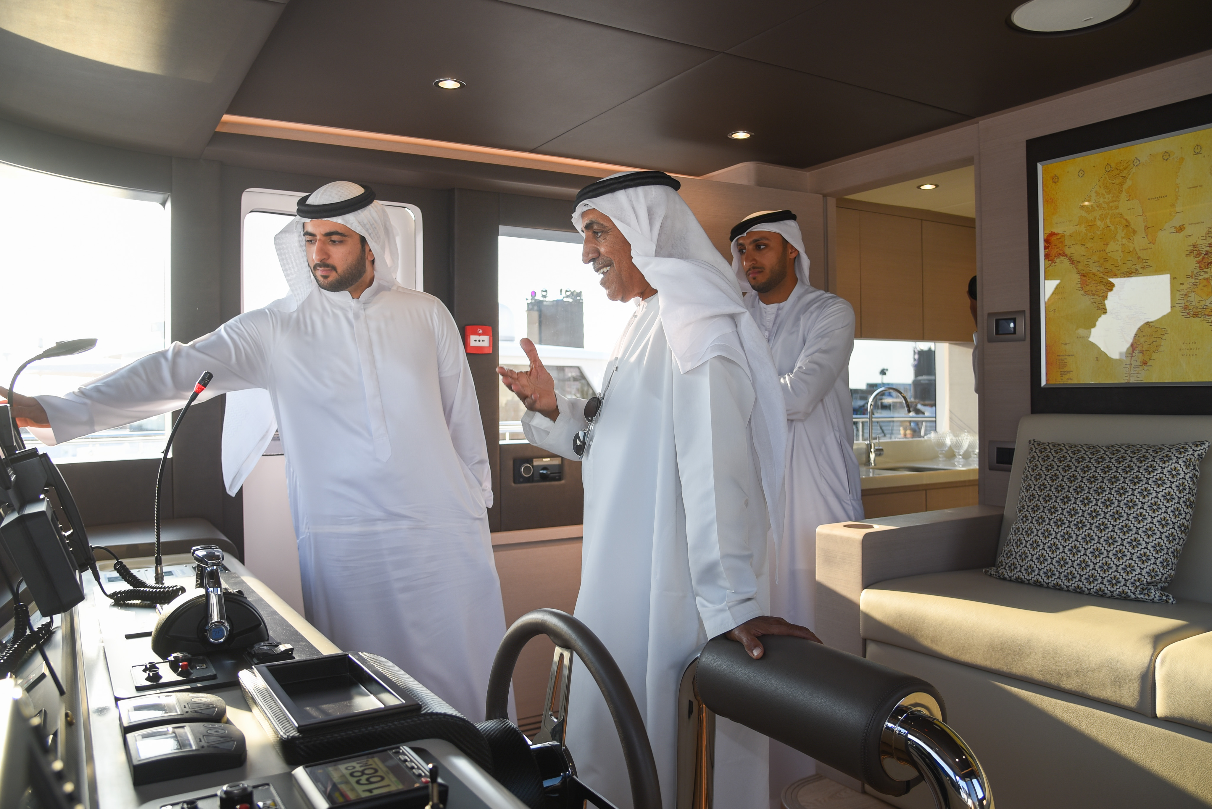HH Sheikh Maktoum bin Mohammed bin Rashid Al Maktoum explores the all-new Nomad 95 SUV.