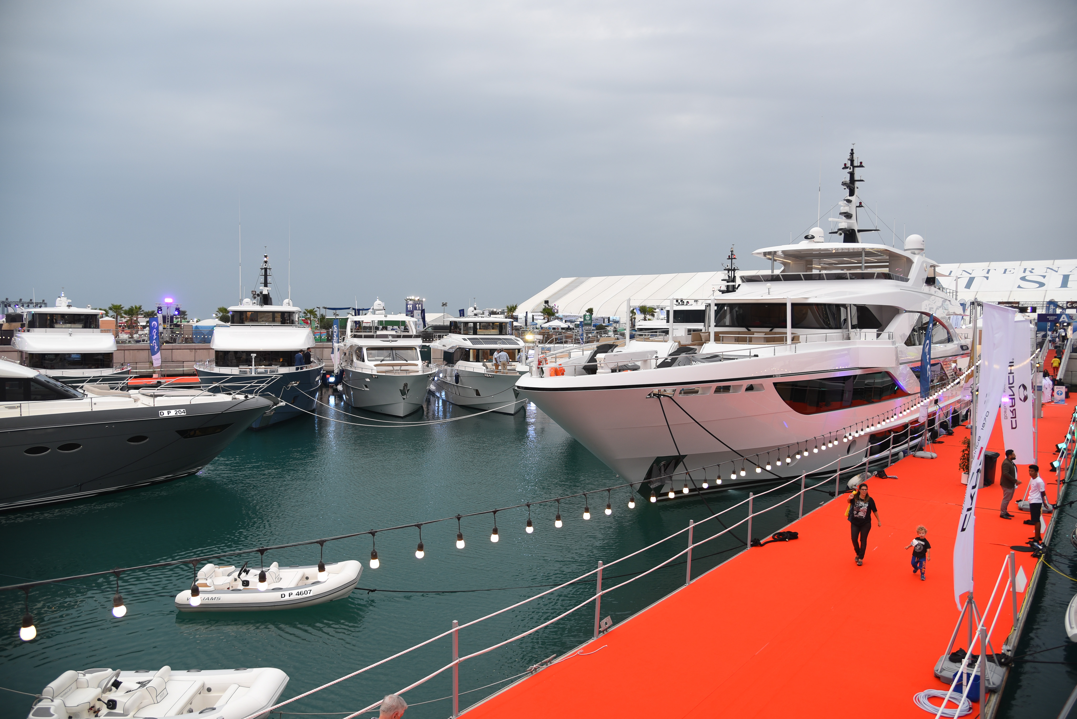 Gulf Craft fleet at the Dubai Boat Show
