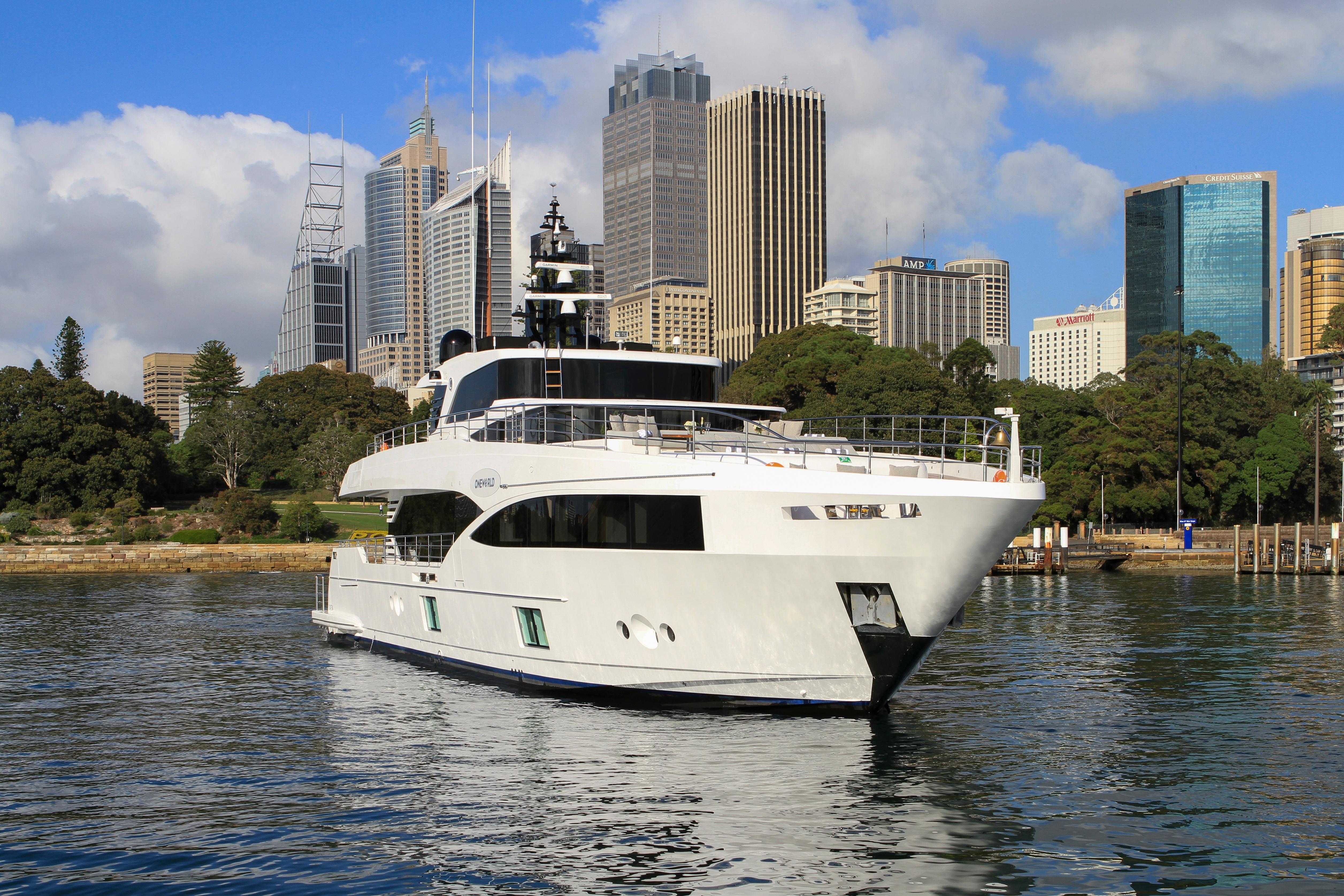 Majesty 100-3 MY Oneworld Sydney Harbour 7 April 2018 Richard Morris Australian Superyachts (143).jpg