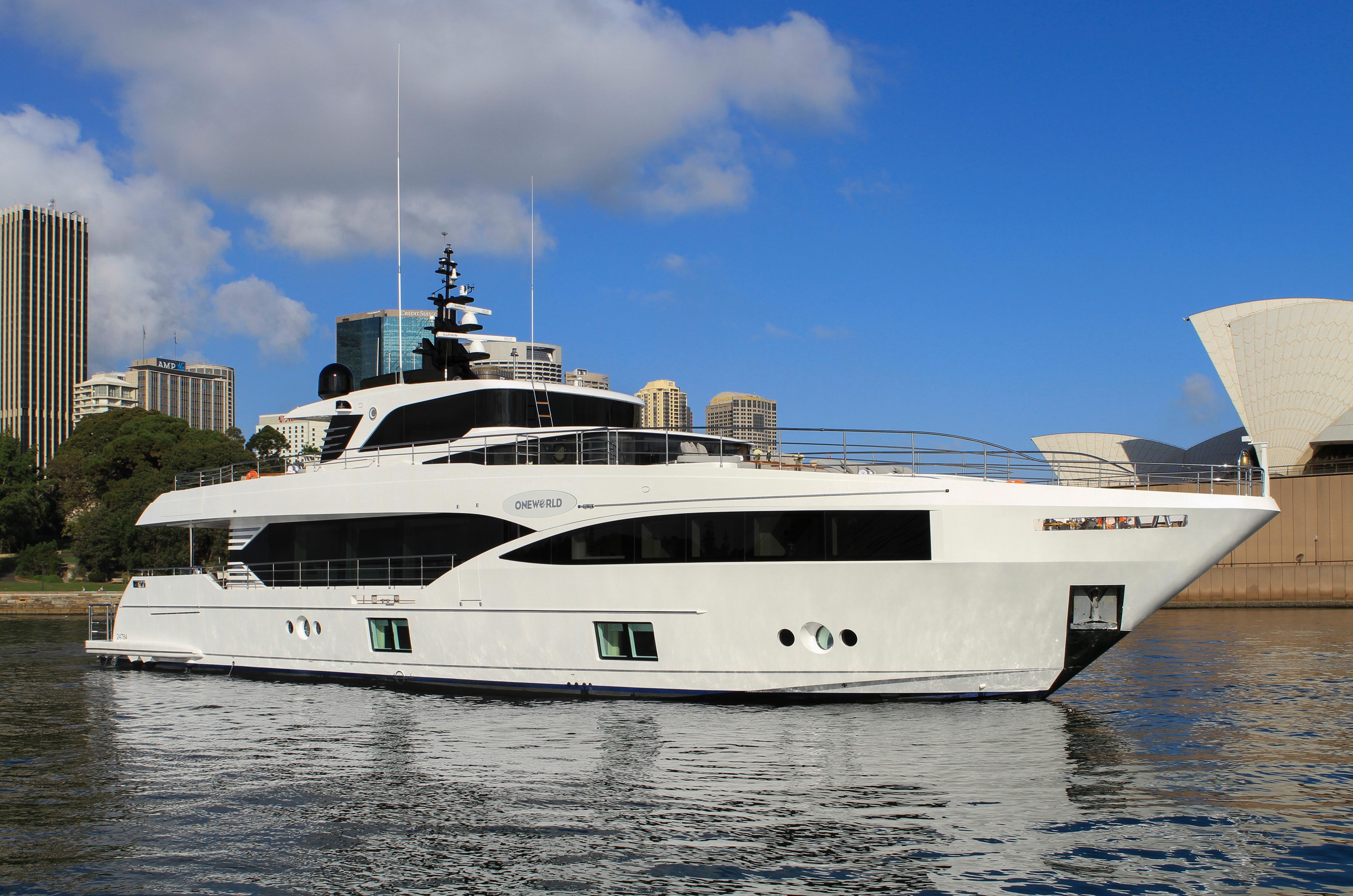 Majesty 100-3 MY Oneworld Sydney Harbour 7 April 2018 Richard Morris Australian Superyachts (145).jpg