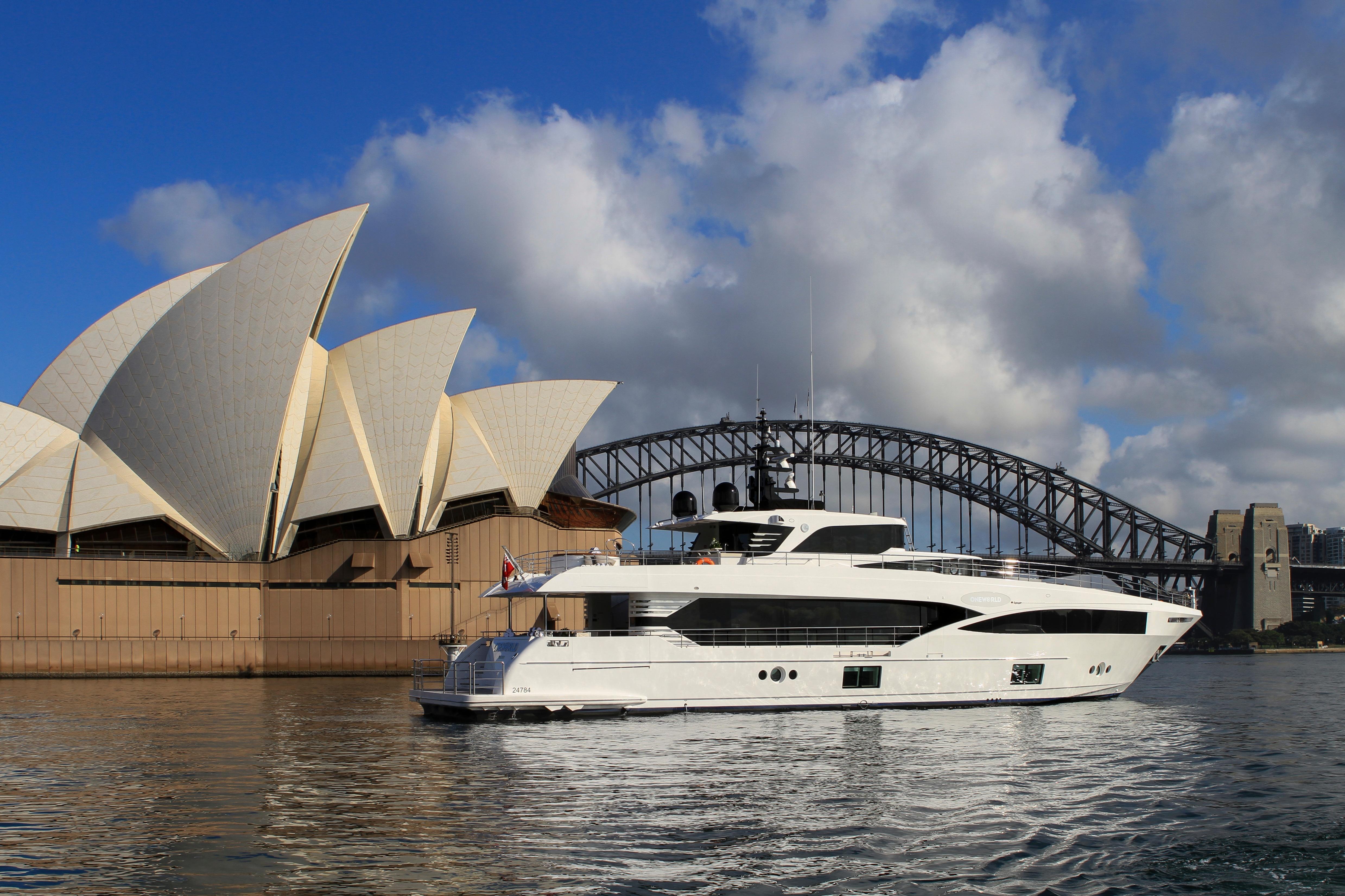 Majesty 100-3 MY Oneworld Sydney Harbour 7 April 2018 Richard Morris Australian Superyachts (156).jpg
