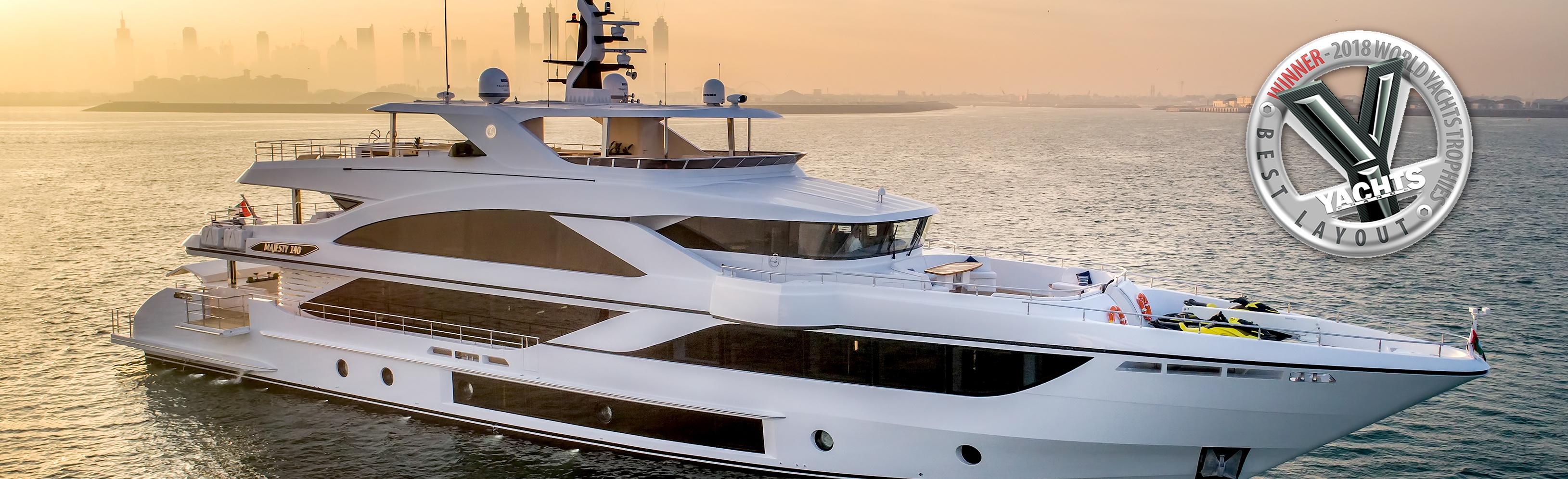 Majesty-140-award,-World-Yachts-Trophies-2018