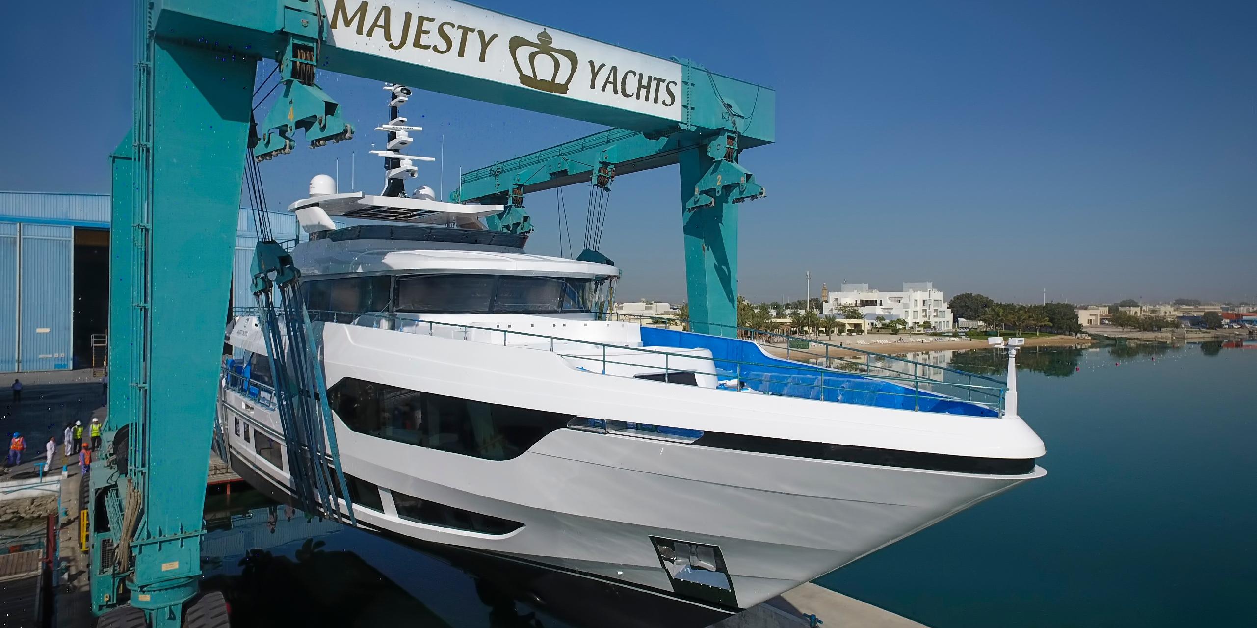 Majesty 120 Superyacht Launch