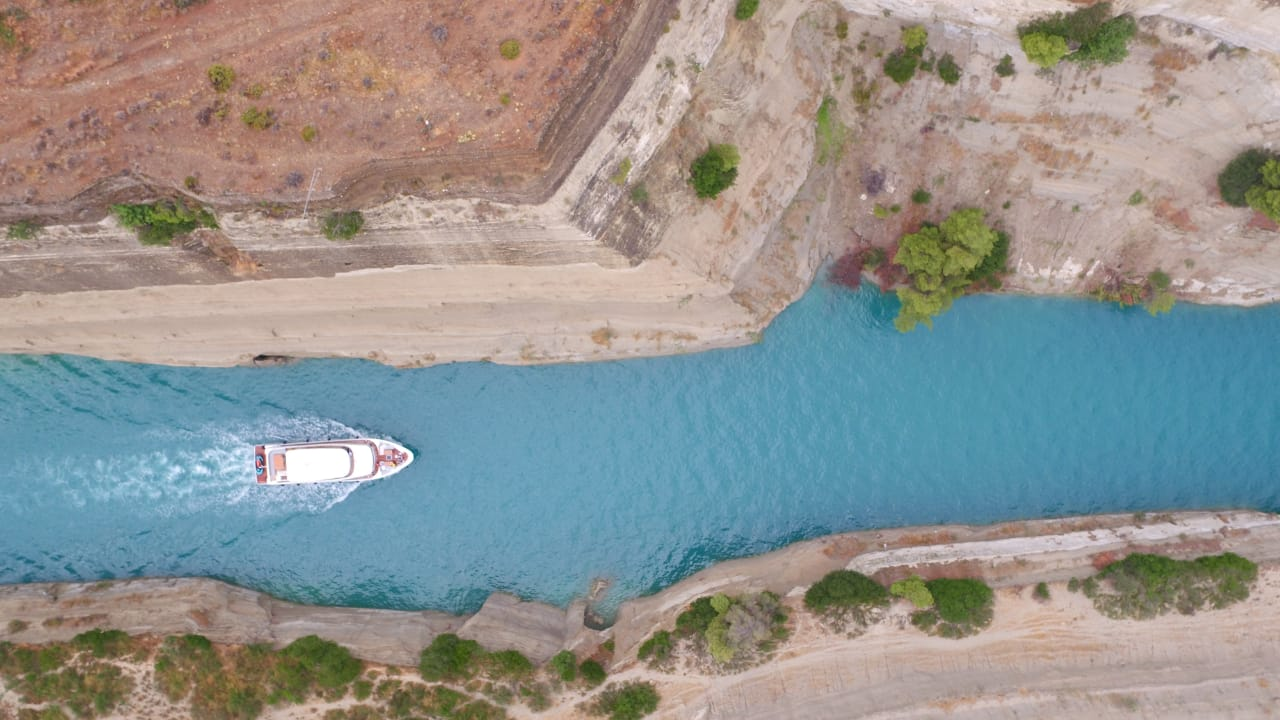 Nomad 75 SUV Crossing the Corinth Canal