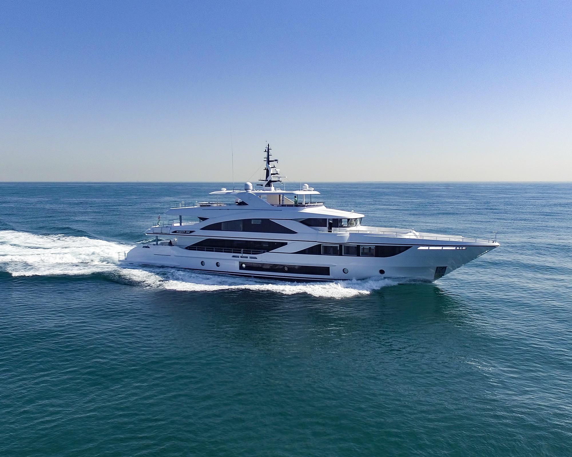 Gulf Craft's newly unveiled Majesty 140 superyacht