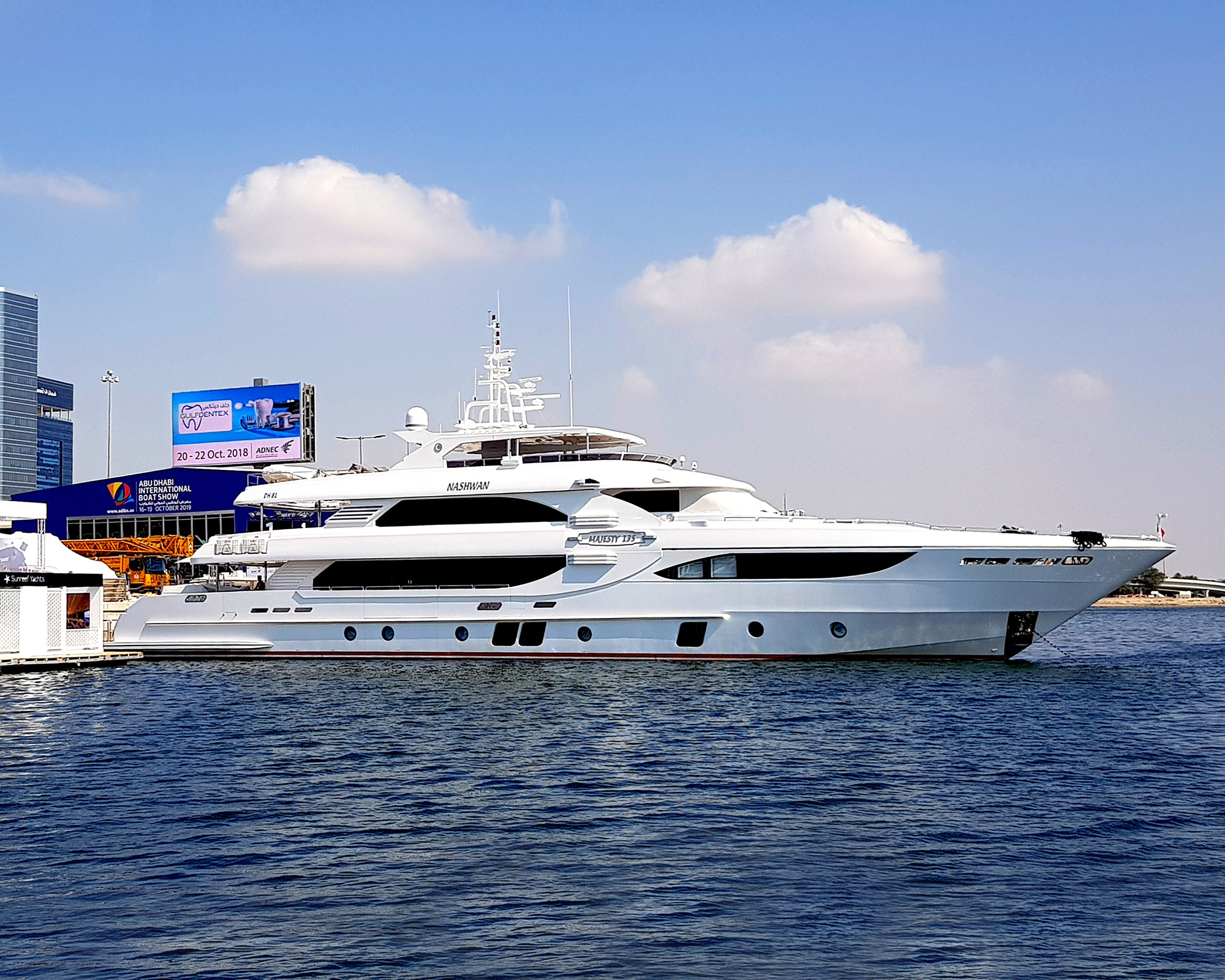 Visit the Majesty 135 superyacht at the Abu Dhabi Boat Show