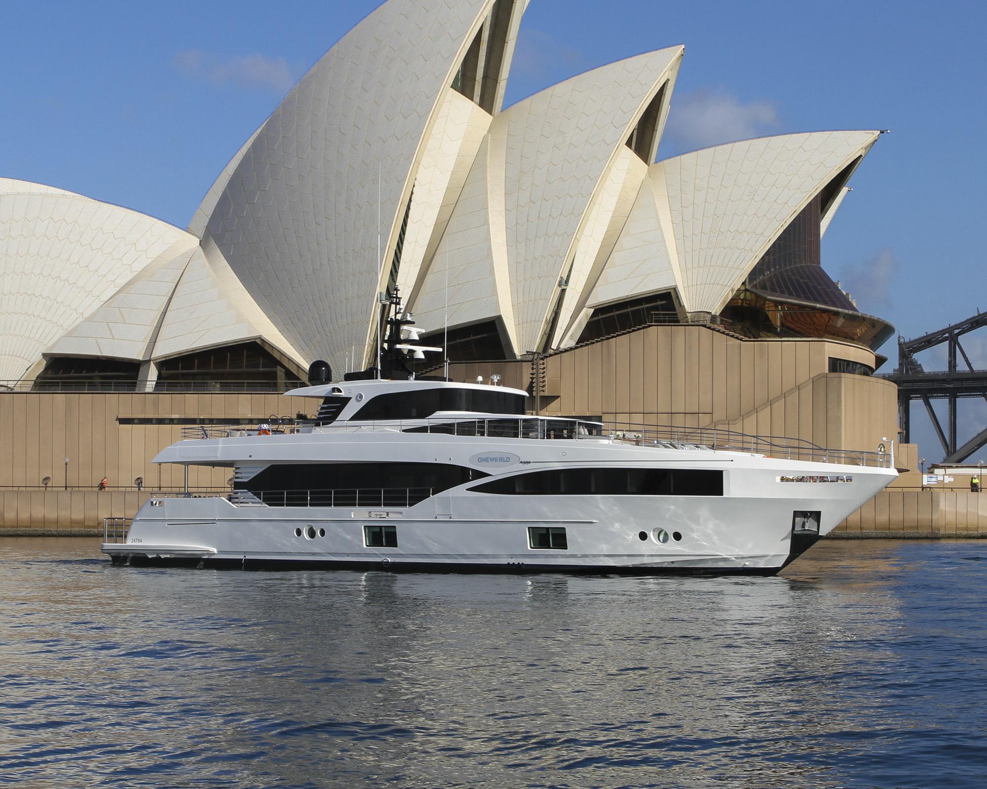 Majesty 100 M/Y Oneworld in Australia