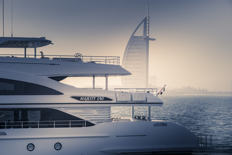 A peak of the Majesty 140 & Burj Al Arab