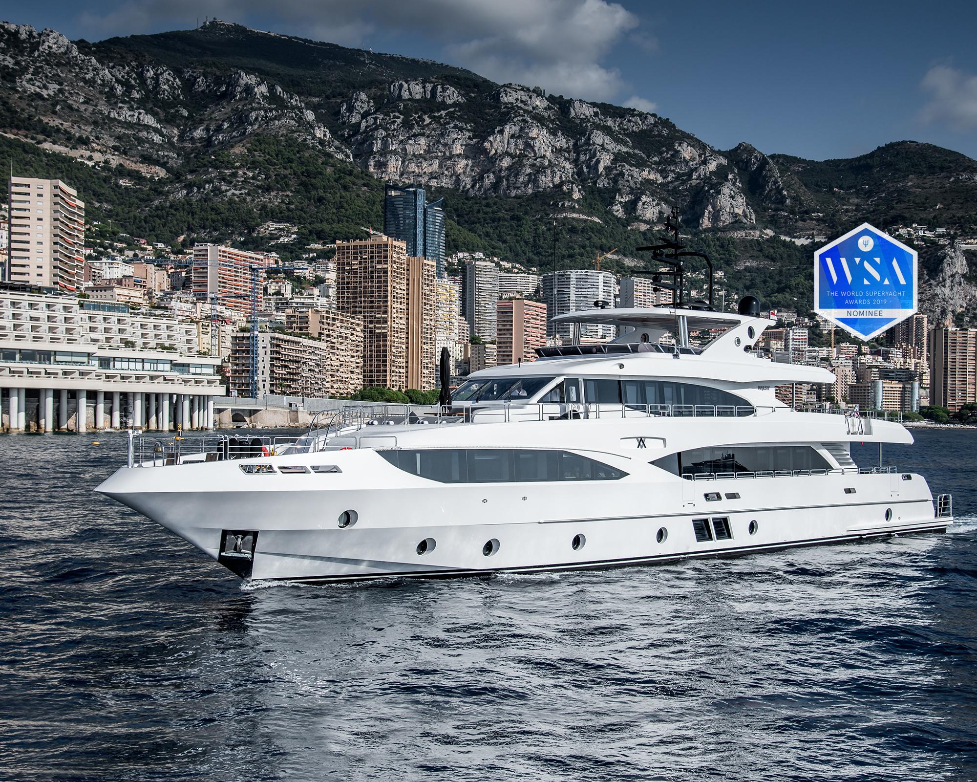 Majesty 125 World Superyacht Awards nominee