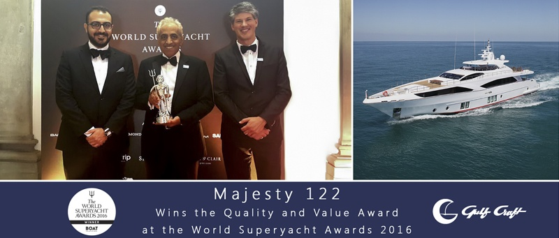 The Majesty 122 wins 'Quality and Value Award'