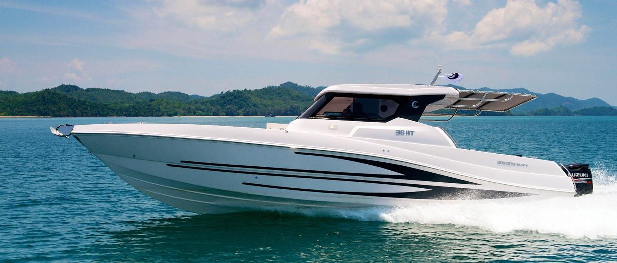 The Silvercraft 36 HT fishing boat by Gulf Craft